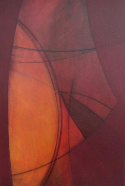 site detalhe da obra com água na boca e um pouco mais 100x100cm acrílica sobre tela Fabiana Langaro Loos